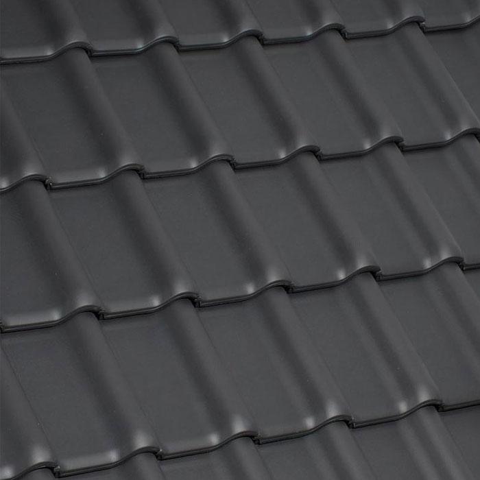 别墅屋顶瓦片深灰色